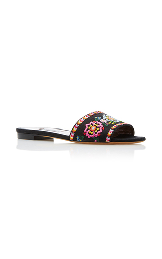 Medium tabitha simmons black sprinkles fest sandal