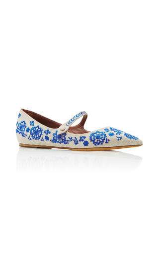 Medium tabitha simmons blue hermione mary jane flats