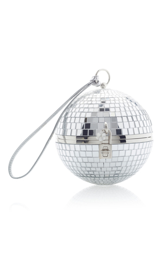 Medium dolce gabbana silver discoball bag