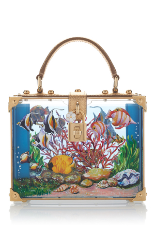 Medium dolce gabbana multi printed box tote