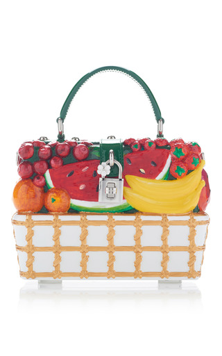 Medium dolce gabbana multi fruit embellished tote