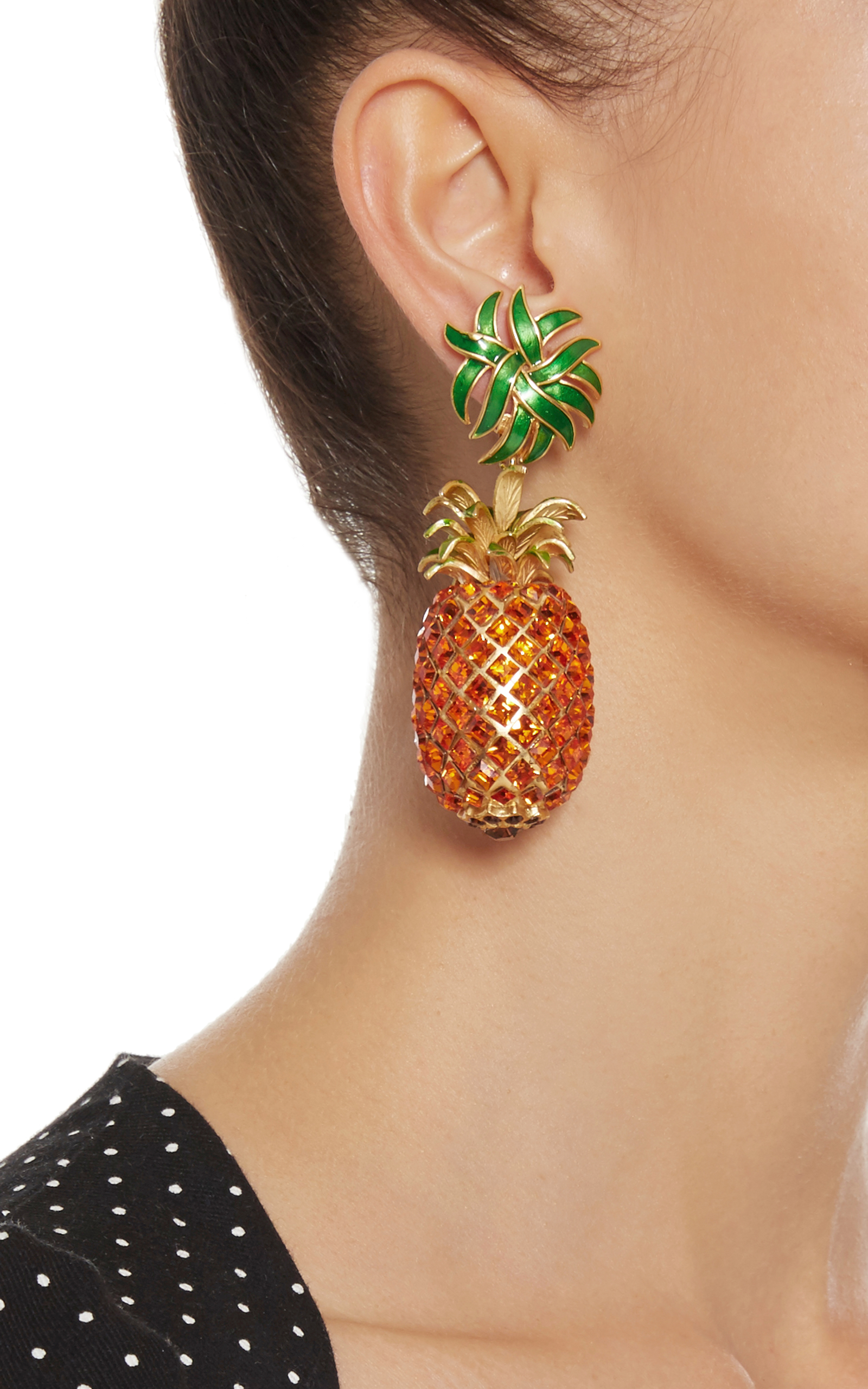 pineapple drop earrings by dolce gabbana moda operandi. Black Bedroom Furniture Sets. Home Design Ideas