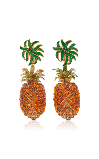 Medium dolce gabbana yellow pineapple drop earrings