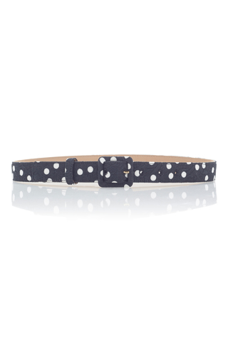 Medium dolce gabbana black polka dot belt