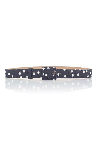 Medium dolce gabbana black polka dot belt