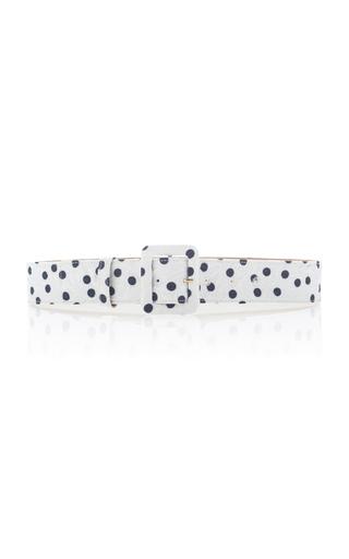 Medium dolce gabbana white polka dot belt 2