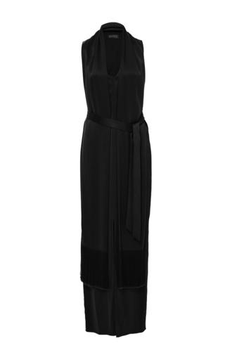 Medium hensely black sleeveless scarf dress 2