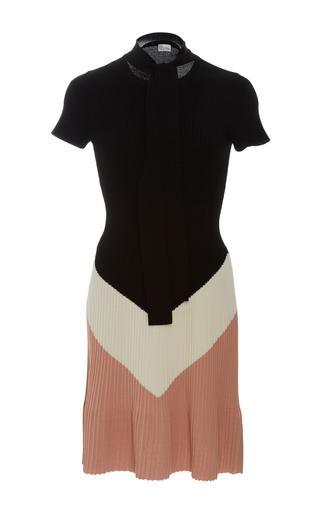 Medium red valentino black short sleeve knit mini dress