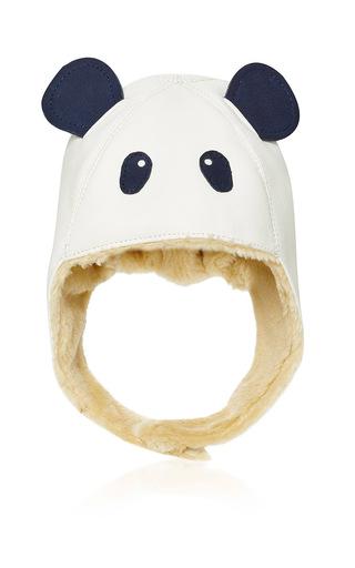 Medium donsje white panda aviator kapi hat