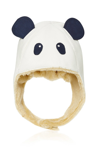 Medium donsje white panda aviator kapi hat
