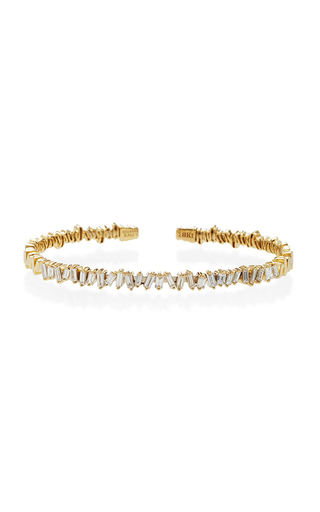 Medium suzanne kalan gold yellow gold zig zag cuff