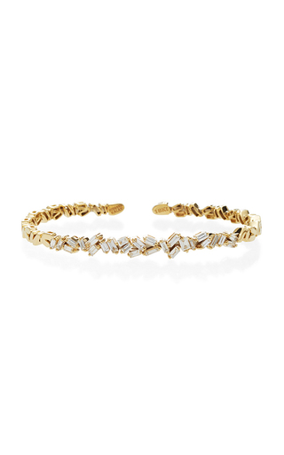 Medium suzanne kalan gold yellow gold chaotic zig zag cuff