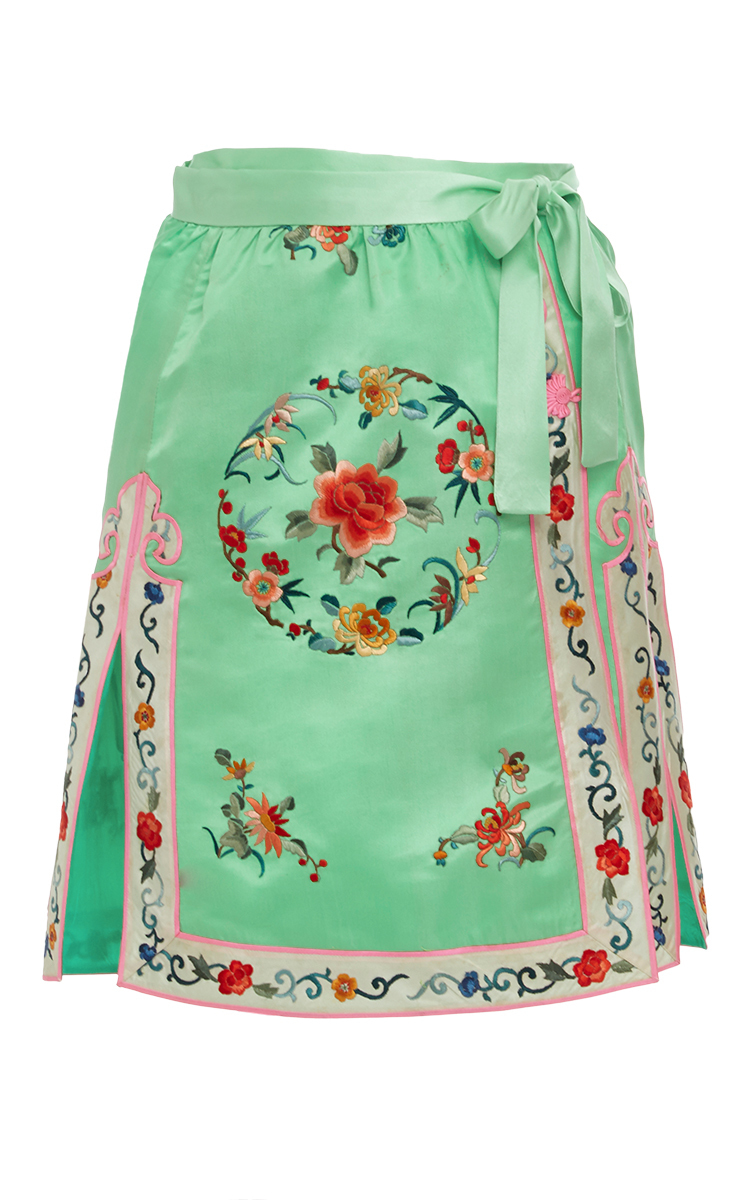 5d8c60179 Silk Embroidered Wrap Skirt by Cynthia Rowley | Moda Operandi