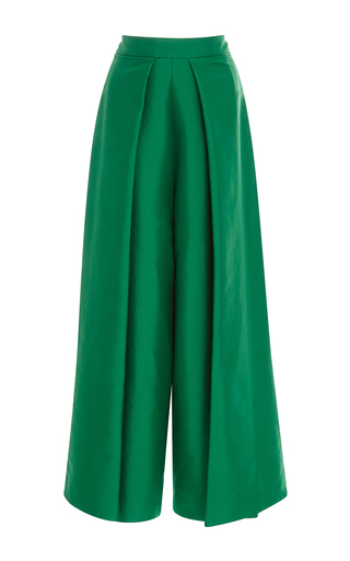 Medium solace london green aria wide cropped trousers