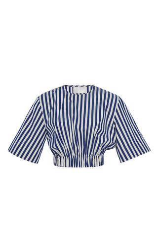 Medium solace london stripe bella striped crop top