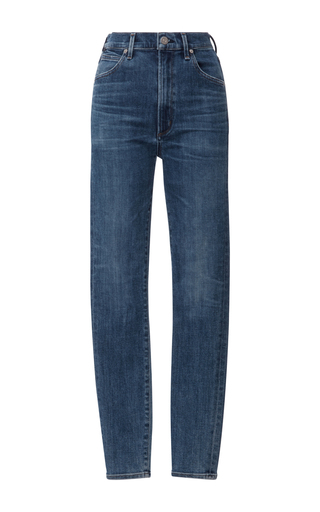 Medium citizens of humanity dark wash chrissy high rise skinny jeans