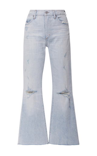 Medium citizens of humanity light wash fleetwood high rise cropped jeans