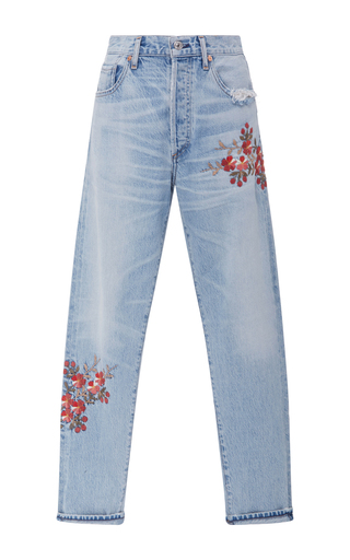 Medium citizens of humanity light wash liya high rise floral jeans
