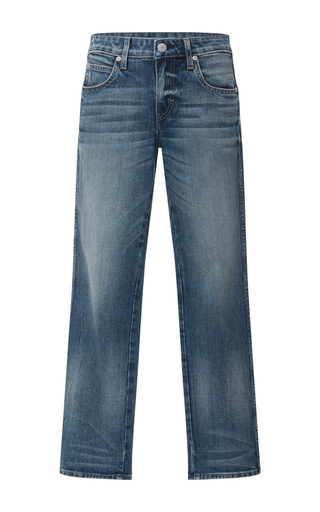 Medium amo  3 dark wash bow cropped jeans