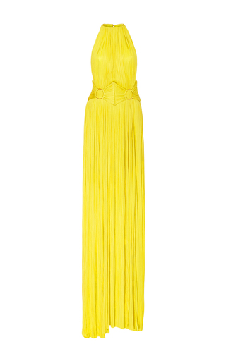 Medium maria lucia hohan yellow chalaya belted gown