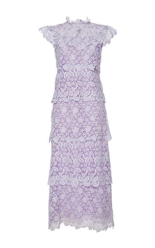 Medium giamba purple tiered lace sleeveless dress