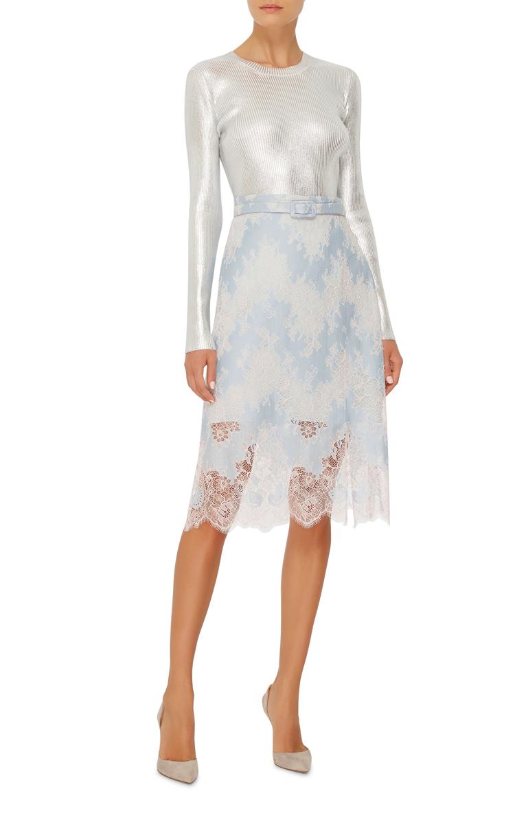 high waisted lace skirt by carven moda operandi