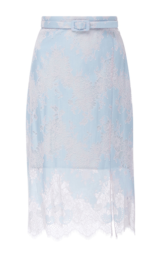 Medium carven blue high waisted lace skirt