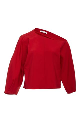 Medium tibi red one shoulder sculpted top