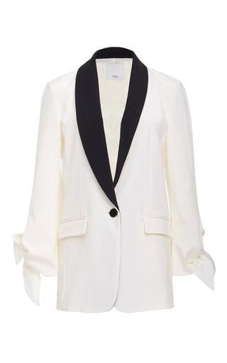Medium tibi ivory tie sleeve tuxedo jacket