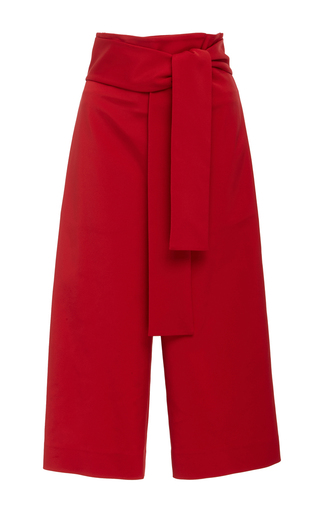Medium tibi red tie waist shorts