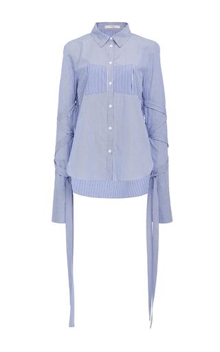 Medium tibi blue wrap sleeve shirt