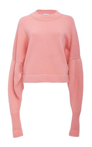 Medium tibi pink drop shoulder crop sweater