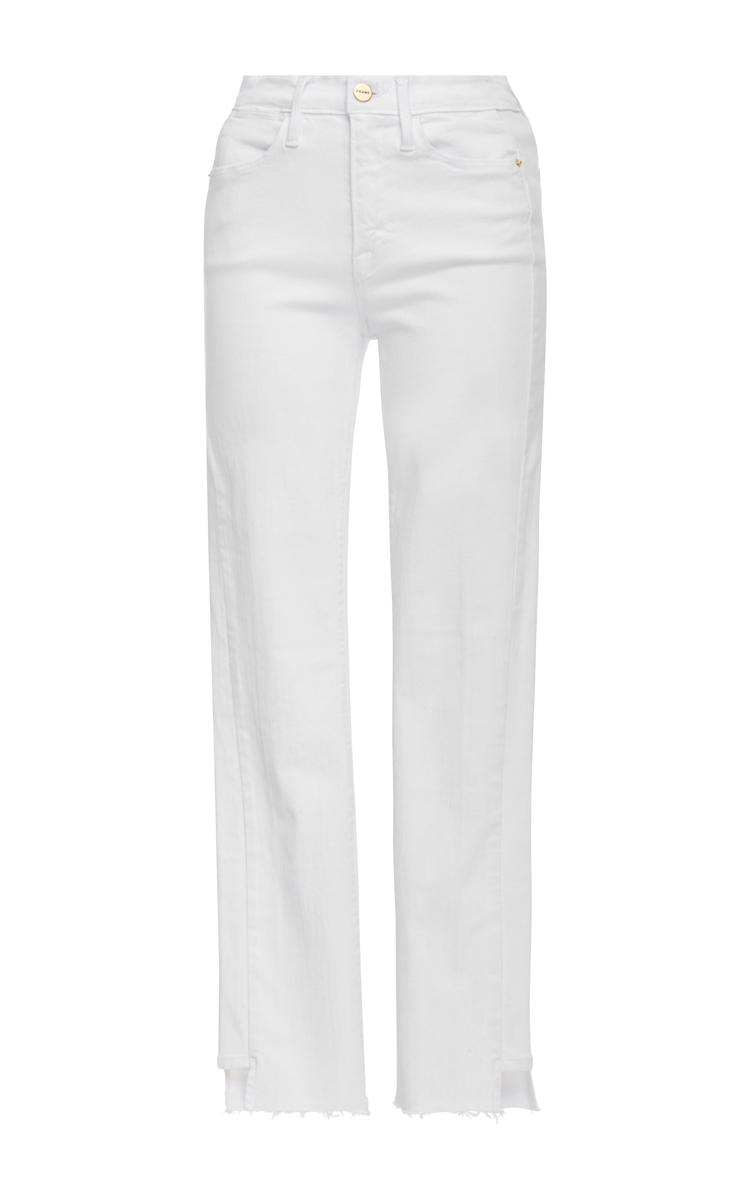 Le High Straight Side Step Raw Jeans by Frame Denim | Moda Operandi