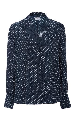 Medium frame denim navy sgt pepper blouse