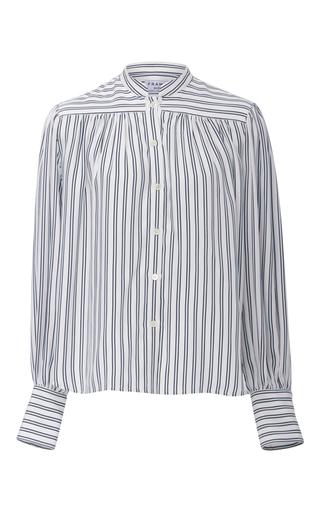 Medium frame denim stripe chloe striped blouse