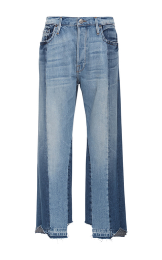 Medium frame denim light wash nouveau high rise jeans