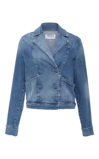 Medium frame denim medium wash le crop denim jacket