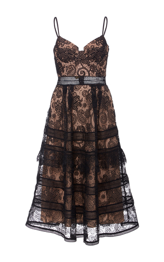 Medium self portrait black paisley midi dress