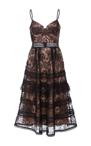 Medium self portrait black paisley midi dress