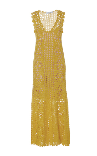 Medium spencer vladimir yellow lemonade v neck dress