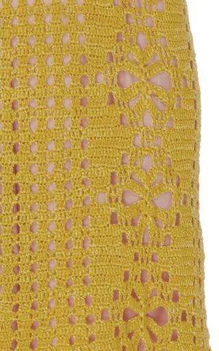 Crochet Lemonade Midi Dress by SPENCER VLADIMIR Now Available on Moda Operandi