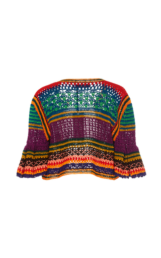 Tulum Bell Crochet Cardigan by SPENCER VLADIMIR Now Available on Moda Operandi