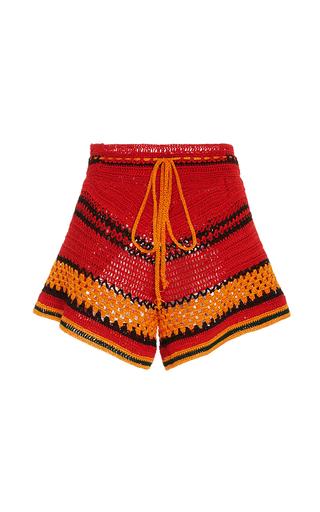 Medium spencer vladimir red tulum striped crochet short