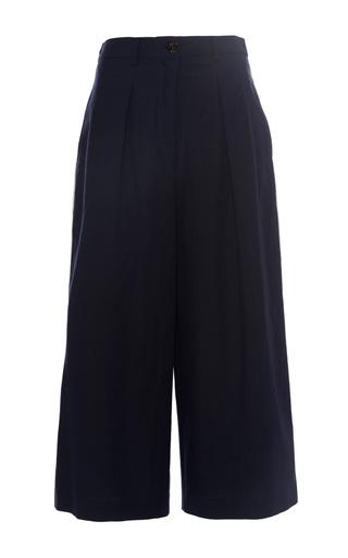 Medium erika cavallini navy indi cropped trousers