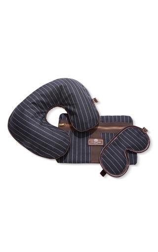 Medium otis batterbee black pin stripe travel set