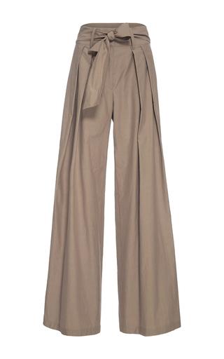 Medium sea khaki chino tied relaxed pants