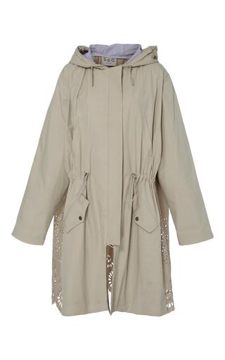 Medium sea khaki hooded combo eyelet windbreaker