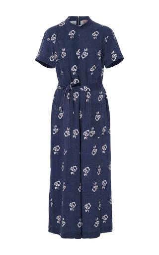 Medium sea print geo floral cropped jumpsuit