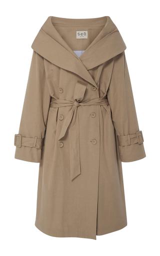 Medium sea khaki windbreaker overcoat