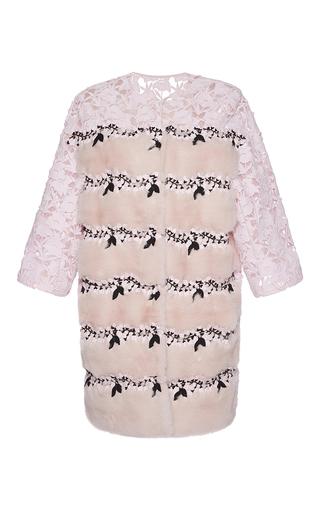 Medium giambattista valli pink mink coat with lace 2